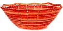 African Basket - Kenya - Beaded Bowl, Medium -  7.25 Inches Across - #49979