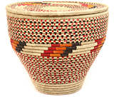 African Basket - Nubian - Canister - 16 Inches Across - #47800