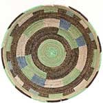 African Basket - Cameroon Coil Weave Bowl - 16 Inches Across - #68279