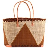 African Market Basket - Madagascar - Malagasy Tote - Approximately 18 Inches Across - #68892