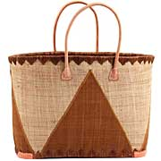 African Market Basket - Madagascar - XL Malagasy Tote - Approximately 20 Inches Across - #68897