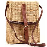 African Basket - Morocco - Messenger Bag - Approximately 11 Inches Across - #MR135