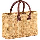 African Basket - Morocco - Small Bulrush Tote - Approximately 13 Inches Across - #MR305-A
