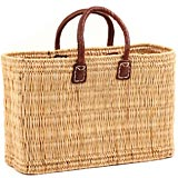 African Basket - Morocco - Medium Bulrush Tote - Approximately 16 Inches Across - #MR305-B