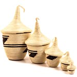 African Basket - Rwandan Peace Baskets - Nesting Set of 5 - #26270
