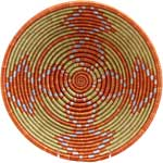African Basket - Rwanda Sisal Coil Weave Bowl - 12 Inches Across - #33823