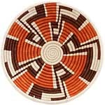 African Basket - Rwanda Sisal Coil Weave Bowl - 12 Inches Across - #33838