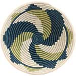 African Basket - Rwanda Sisal Coil Weave Bowl - 12 Inches Across - #33844