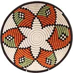 African Basket - Rwanda Sisal Coil Weave Bowl - 12 Inches Across - #42253