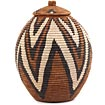 African Basket - Zulu Ilala Palm - Ukhamba - 12 Inches Tall - #64552