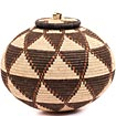 African Basket - Zulu Ilala Palm - Ukhamba - 10 Inches Tall - #67239