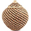 African Basket - Zulu Ilala Palm - Ukhamba - 11.25 Inches Tall - #67240