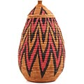 African Basket - Zulu Ilala Palm - Ukhamba - 14.25 Inches Tall - #67241