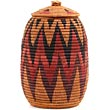 African Basket - Zulu Ilala Palm - Ukhamba - 12.25 Inches Tall - #67242