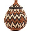 African Basket - Zulu Ilala Palm - Ukhamba - 10.75 Inches Tall - #67246