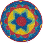 African Basket - Zulu Wire - Flat Coil Weave Plate - 12.25 Inches Across - #23651