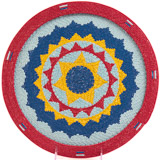 African Basket - Zulu Wire - Flat Coil Weave Plate - 13 Inches Across - #23652