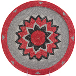 African Basket - Zulu Wire - Flat Coil Weave Plate - 12.75 Inches Across - #23653