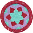 African Basket - Zulu Wire - Flat Coil Weave Plate -  7.75 Inches Across - #41743