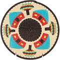 African Basket - Zulu Wire - Flat Coil Weave Plate -  8.25 Inches Across - #49438