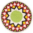 African Basket - Zulu Wire - Flat Coil Weave Plate -  7.75 Inches Across - #49440