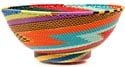 African Basket - Zulu Wire - Bowl with Base #50973