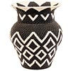 African Basket - Zulu Wire - Coil Woven Vase -  6 Inches Across - #52422