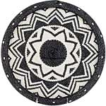 African Basket - Zulu Wire - Flat Coil Weave Plate - 12.75 Inches Across - #52435