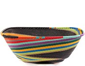 African Basket - Zulu Wire - Extra Large Square Bowl #60527