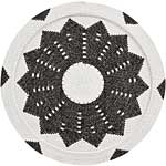 African Basket - Zulu Wire - Flat Coil Weave Plate - 12.5 Inches Across - #66347