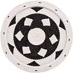 African Basket - Zulu Wire - Flat Coil Weave Plate - 12.5 Inches Across - #66348