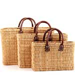 Moroccan Bulrush Beach Baskets, Fair Trade Gifts